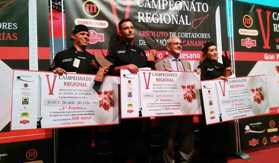 carlos lista campeonato regional decanarias de cortadores de jamon