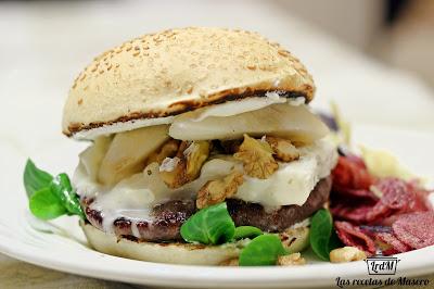 receta hamburguesa gorgonzola y nueces