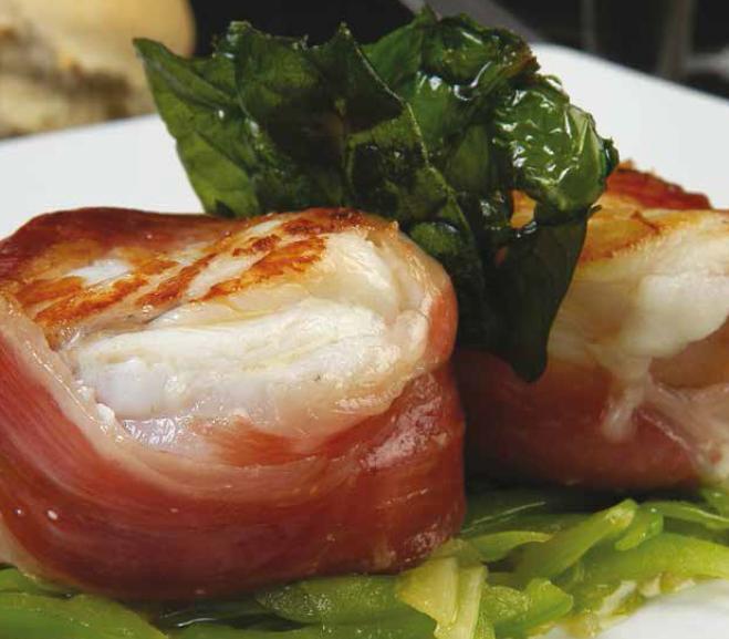 recetas para cocinar rape albardado con jamón