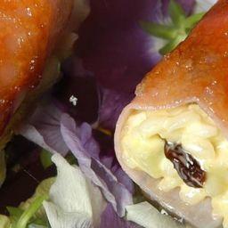 receta canutillos de jamóm y pasas
