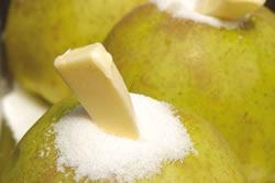 manzanas, azucar y mantequilla