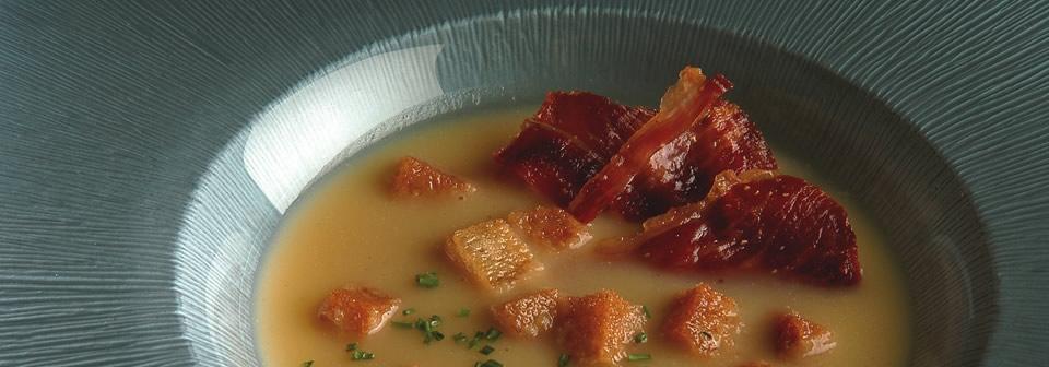 sopa de jamón ibérico