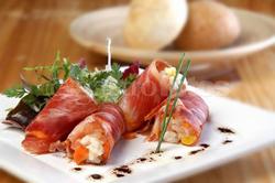 raviolis de lomo y verduras