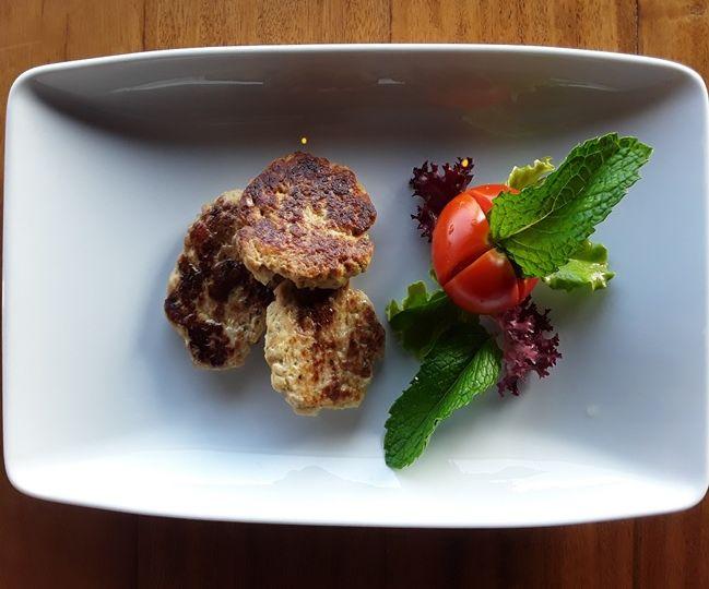receta cómo preparar hamburguesa de pollo saludable