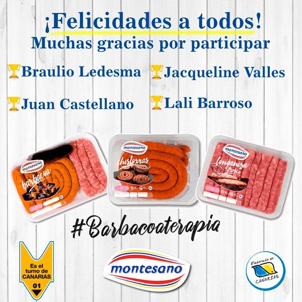 ganadores del concurso barbacoaterapia de Montesano