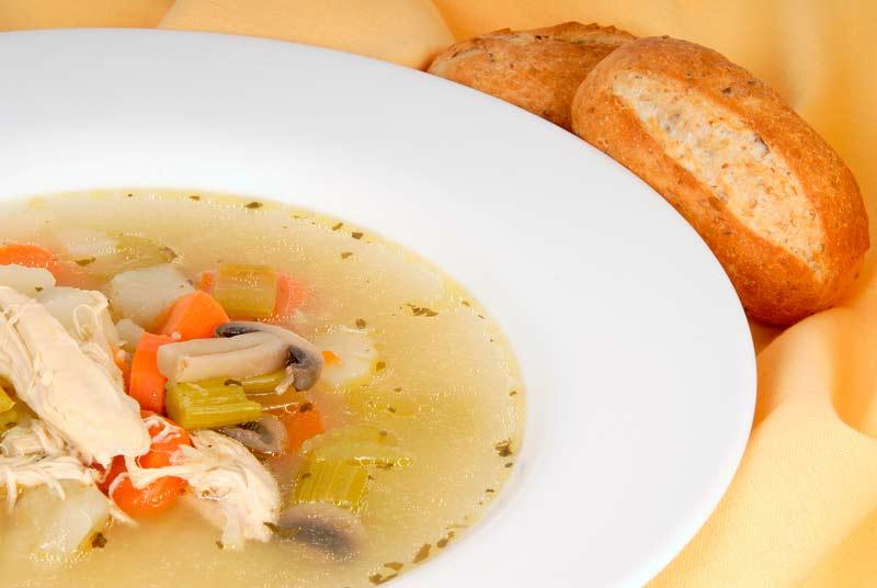 cómo preparar sopa de pollo