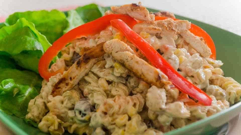 receta macarrones con tiras de pavo