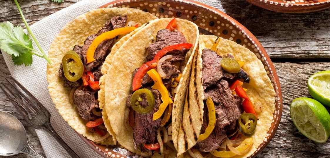 receta fajitas de carne mechada