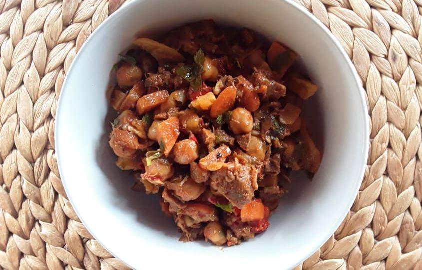 receta garbanzos salteados con ternera y verdura