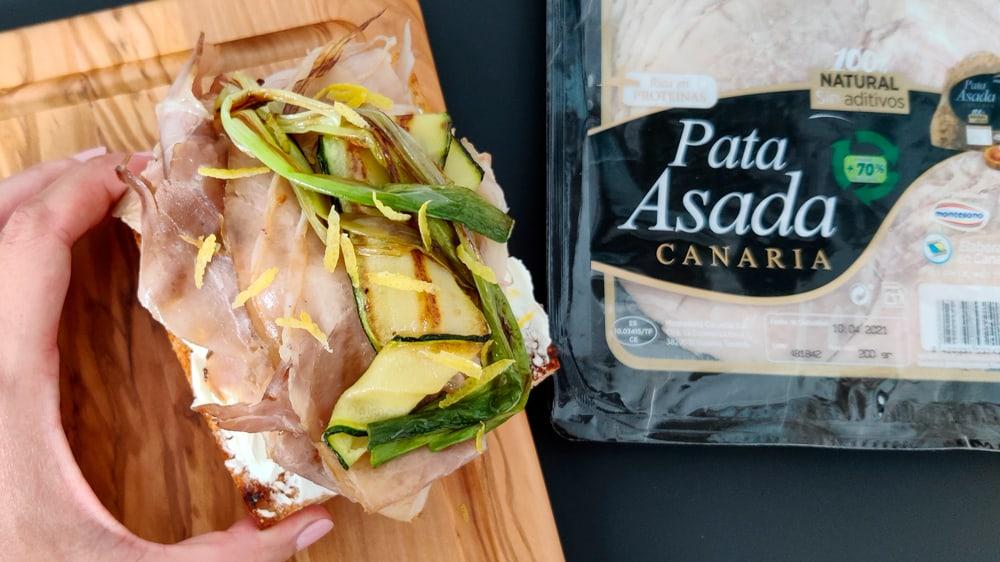 tosta de pata asada canaria receta